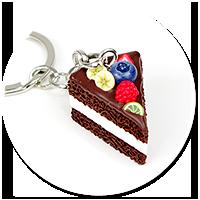 keyring with chocolate cake no. 8
