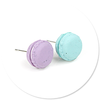 plug-in earrings macaroons no. 3