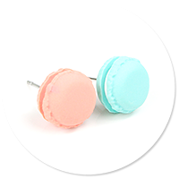 plug-in earrings macaroons no. 4