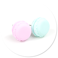 plug-in earrings macaroons no. 6