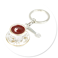 keyring cup of coffee