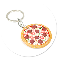 keyring with pizza no. 2