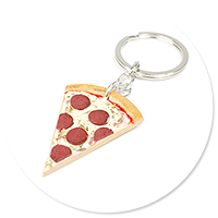 keyring with pizza no. 6