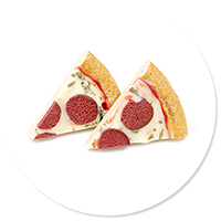 plug-in earrings pizza