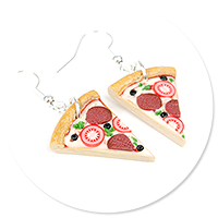 earrings pizza no. 2