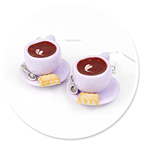 earrings cups of coffee no. 6
