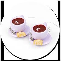 kolczyki filiżanki z kawą nr 6