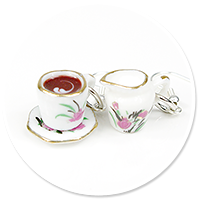 earrings cups and milk jug