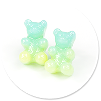 plug-in earrings colorful teddy bear no. 3