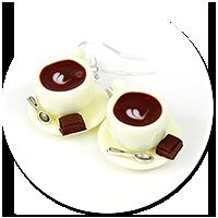 kolczyki filiżanki z kawą nr 8