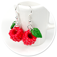 earrings raspberries