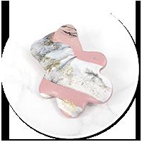broszka marmurowy miś