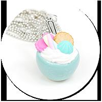naszyjnik pastelowa miseczka