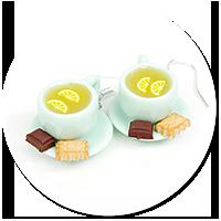 kolczyki filiżanki z herbatą nr 8