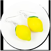 kolczyki cytryny
