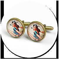 cufflinks with woman
