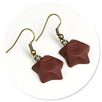 earrings chocolate stars