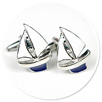 cufflinks for sailor (sailboat)
