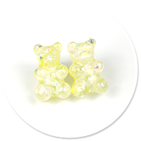 plug-in earrings pastel teddy bear no. 5