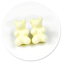 plug-in earrings pastel teddy bear no. 2