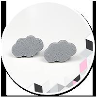 plug-in earrings little clouds no. 3