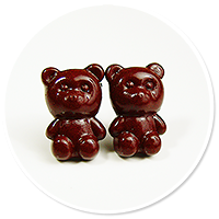 plug-in earrings chocolate teddy bears