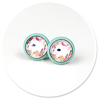 colorful earrings with cats no. 8