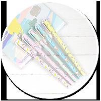 gel pen with unicorns