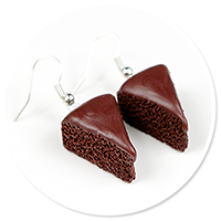 earrings chocolate cake