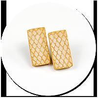 kolczyki wtykane wafle