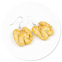 earrings with walnut