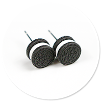 plug-in earrings oreo no. 5
