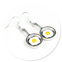earrings pan (fried egg)