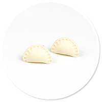 plug-in earrings dumplings