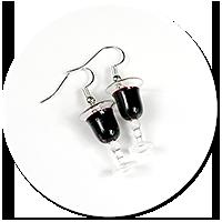 kolczyki kieliszki z czerwonym winem nr 4
