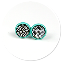 colorful earrings in patterns no. 7