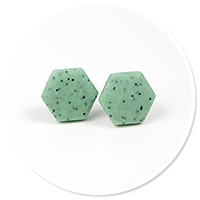 earrings stone hexes (medium) no. 3