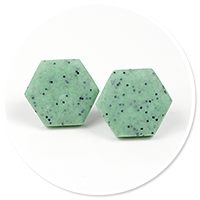 earrings stone hexes (big) no. 3