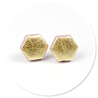 plug-in earrings hexes no. 4