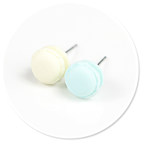 plug-in earrings macaroons no. 2