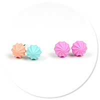 plug-in earrings meringues (set, 2 pairs) no. 7