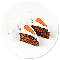 earrings carot cake