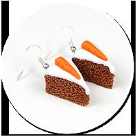 kolczyki ciasto marchewkowe