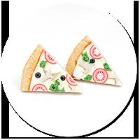 kolczyki pizza ze szpinakiem i fetą