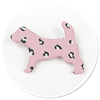 brooch dog leopard no. 2