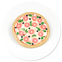 brooch with pizza