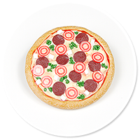 brooch with pizza no. 2