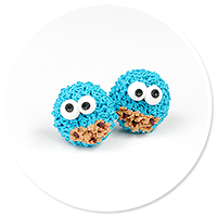 plug-in earrings cookie monster no. 2