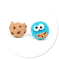 plug-in earrings cookie monster no. 3
