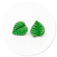 plug-in earrings leaves